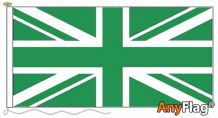 UNION JACK GREEN ANYFLAG RANGE - VARIOUS SIZES